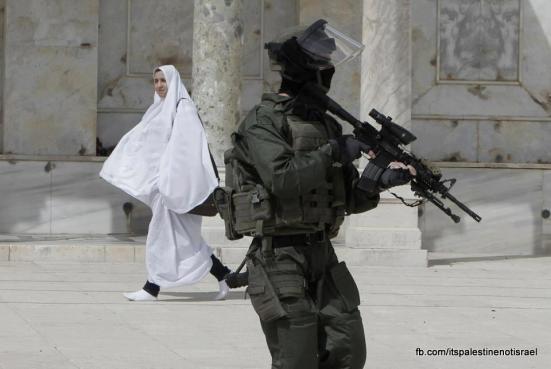 Israeli occupation forces storm Al-Aqsa compound_March_8_2013_09