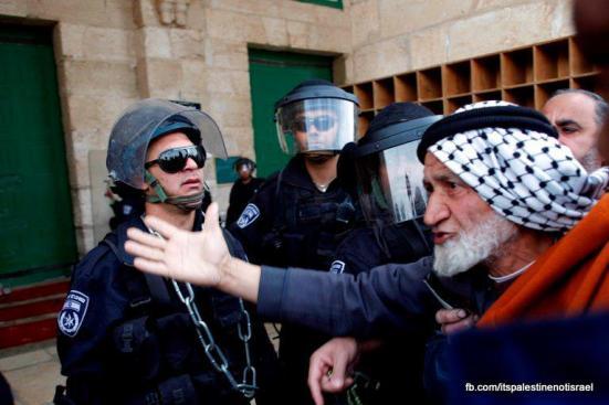 Israeli occupation forces storm Al-Aqsa compound_March_8_2013_10