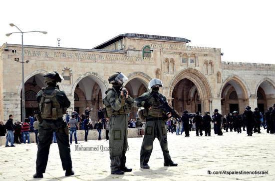 Israeli occupation forces storm Al-Aqsa compound_March_8_2013_16