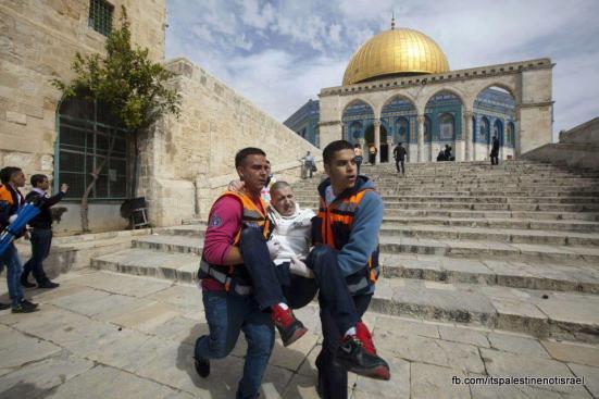 Israeli occupation forces storm Al-Aqsa compound_March_8_2013_17