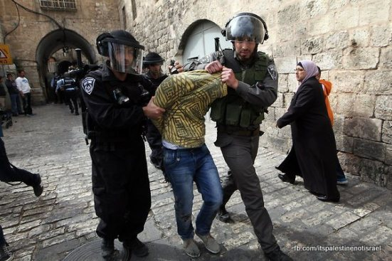 Israeli occupation forces storm Al-Aqsa compound_March_8_2013_22