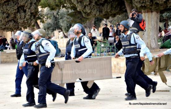 Israeli occupation forces storm Al-Aqsa compound_March_8_2013_24
