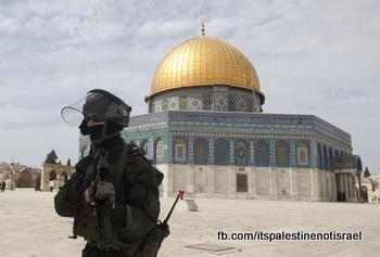 Israeli occupation forces storm Al-Aqsa compound_March_8_2013_30
