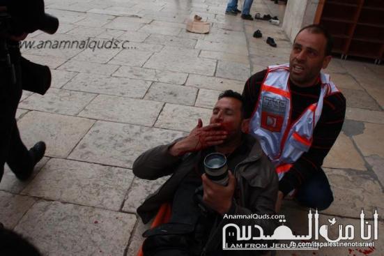 Israeli occupation forces storm Al-Aqsa compound_March_8_2013_35