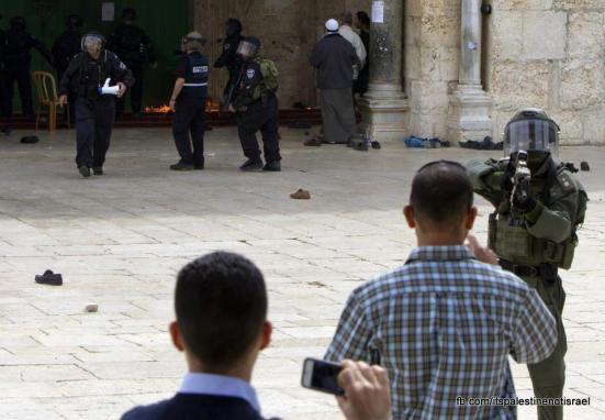 Israeli occupation forces storm Al-Aqsa compound_March_8_2013_41