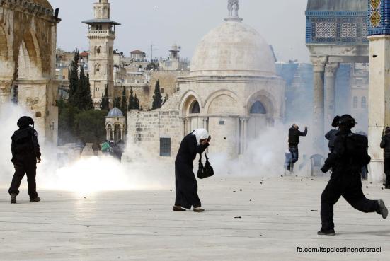 Israeli occupation forces storm Al-Aqsa compound_March_8_2013_43