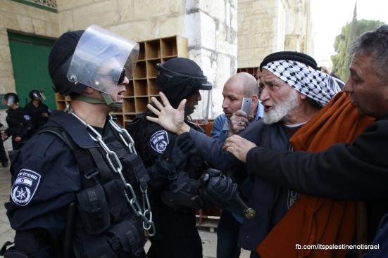 Israeli occupation forces storm Al-Aqsa compound_March_8_2013_44