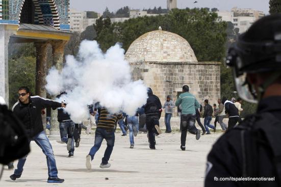 Israeli occupation forces storm Al-Aqsa compound_March_8_2013_45