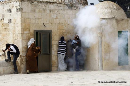 Israeli occupation forces storm Al-Aqsa compound_March_8_2013_46