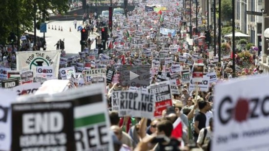 Anti-Israel demonstration held in London