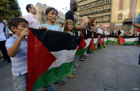 Protest-in-spain-against-Israel-War-on-Gaza-under-attack-004