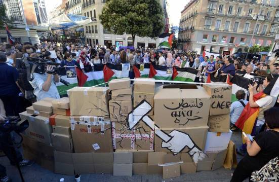 Protest-in-spain-against-Israel-War-on-Gaza-under-attack-009
