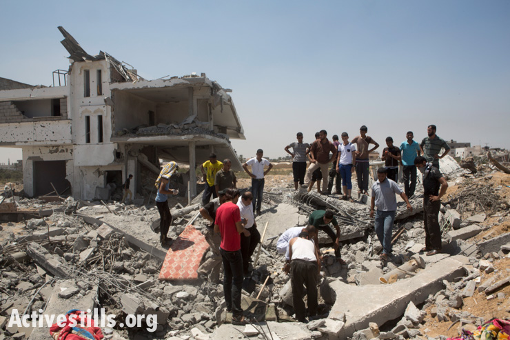 Gaza under attack, Khuza'a, 1.8.2014