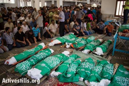 A Gaza funeral for 26 members of one family