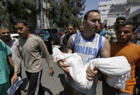 Dead child Gaza