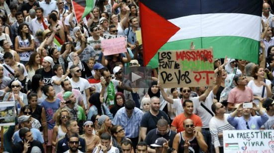 French protesters condemn Israeli carnage in Gaza