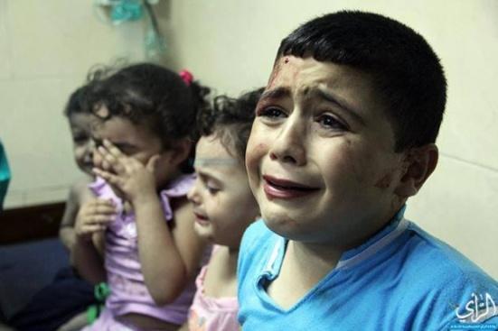 gaza crying