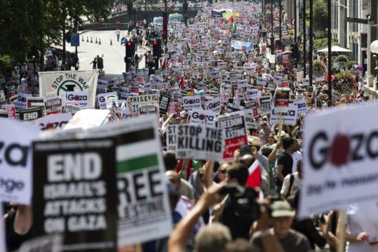 new-protest-in-london-against-israel-war-on-gaza