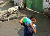 There's a shortage of clean water especially at UN-run schools in Gaza
